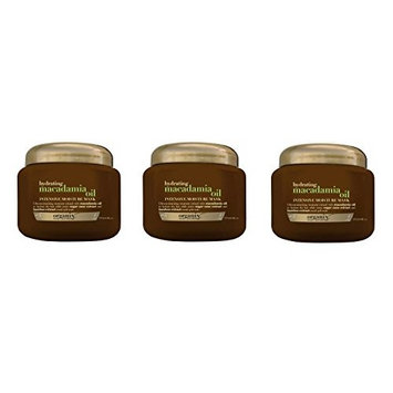 [Value Pack fo 3] OGX Hydrating Macadamia Oil Intensive Moisture Hair Mask, 8oz, Moisturizing, damage repair : Beauty