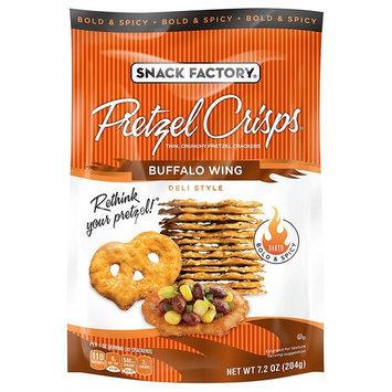 Snack Factory Pretzel Crisps, Buffalo Wing, 7.2 Ounce
