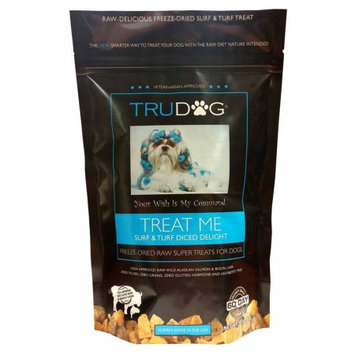 Trupet Trudog Treat Me Surf and Turf Salmon and Bison Dog Treats 2.5 ounces