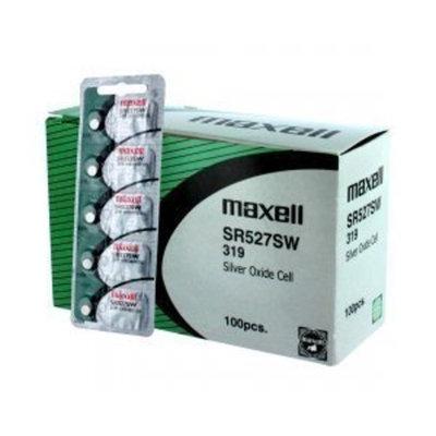 100 pc Maxell SR527SW SR64 319 SR527 Silver Oxide Watch Battery