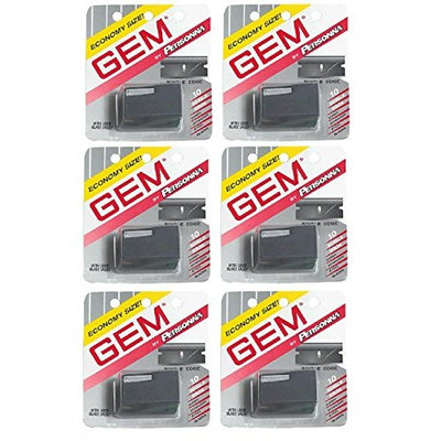 Personna Gem Super Stainless Steel Refill Blades, 10 ct. (Pack of 6) + FREE Travel Toothbrush, Color May Vary