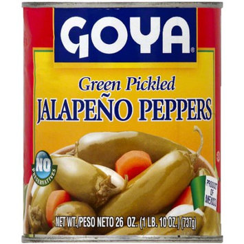Goya Green Pickled Jalapeno Peppers, 26 oz (Pack of 12)