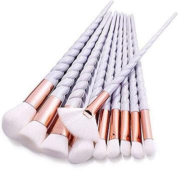 AccMart Makeup Brush Set,Unicorn Design Brushes,Make Up Foundation Eyebrow Eyeliner Blush Cosmetic Concealer Brushes 3SET