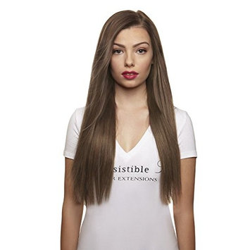 IRRESISTIBLE ME – Clip in Hair Extensions Ash Blonde (#10) - 100% Natural Remy (Remi) Human Real Hair – Straight Silky Touch – Clips Pieces Full Head Set - Different Weight (Grams) and Length (Inch)