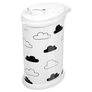 Ubbi Steel Diaper Pail - White Clouds