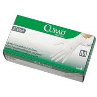 CUR8235 - CURAD Powder-Free Latex-Free 3G Vinyl Exam Gloves,Medium