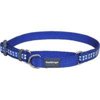 Red Dingo MC-RB-DB-ME Martingale Dog Collar Reflective Dark Blue Medium