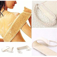 Sale Loofah Back Strap Exfoliating Body Bath Shower Sponge brush Scrubber