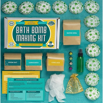 Bath Bomb Making Kit with 100% Pure Therapeutic Grade Essential Oils, Makes 12 DIY Lush Cupcake Mold Bath Bombs, Gift Box & Metal Bath Bomb Mold 2 Piece Set Included
