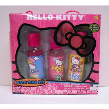 Hello Kitty Bath Time Set of 3 Cotton Candy Scented