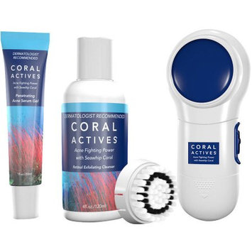 Ictv Brands CoralActives Acne Fighting System with Bonus Cleansing Brush