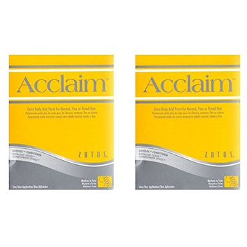 [ VALUE PACK OF 2] ZOTOS ACCLAIM EXTRA BODY ACID PERM FOR NORMAL, FINE, TINTED HAIR ( MEDIUM TO FIRM): Beauty