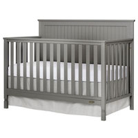 Dream On Me Industries Inc Dream On Me 728-SGY Alexa 5 in 1 Convertible Crib Silver Grey