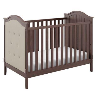 Storkcraft Linden Tufted 3-In-1 Convertible Crib - Walnut/Sand Baby Crib