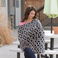 On the Goldbug 4 -in-1 Nursing Scarf Black Geo