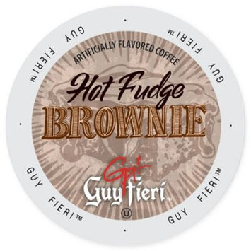 Single Cup Coffee Guy Fieri Coffee Hot Fudge Brownie, Single Serve Cup Portion Pack for Keurig K-Cup Brewers