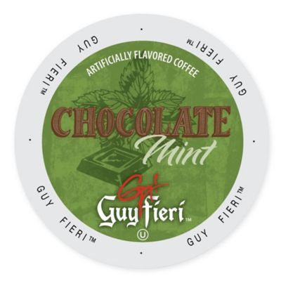 Single Cup Coffee Guy Fieri Coffee Chocolate Mint, Single Serve Cup Portion Pack for Keurig K-Cup Brewers