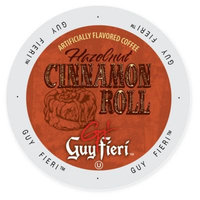 Single Cup Coffee Guy Fieri Coffee Hazelnut Cinnamon Roll, Single Serve Cup Portion Pack for Keurig K-Cup Brewers