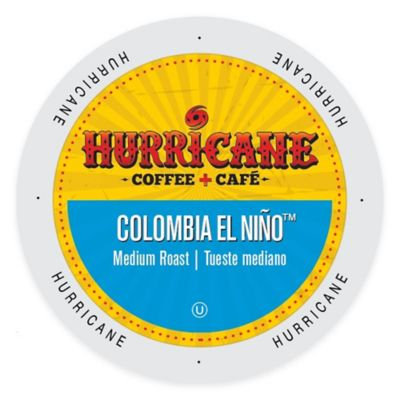 Single Cup Coffee Hurricane Coffee And Tea Colombia El Ni o, Rainforest Alliance, Single Serve Cup Portion Pack for Keurig K-Cup Brewers