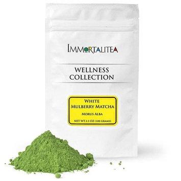 Immortalitea White Mulberry Matcha Style Tea Powder ? Blood Sugar Balance Herbal Tea Powder ? Caffeine-Free - 3.5 Ounce