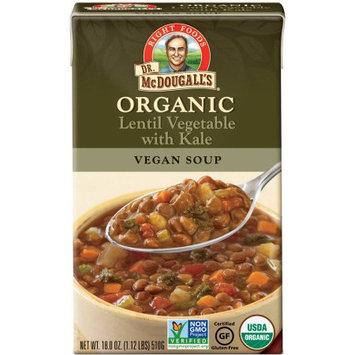 Dr. McDougall's Organic Lentil Vegetable with Kale Vegan Soup, 18 oz, (Pack of 6)