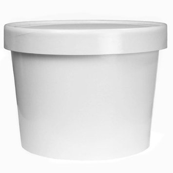 Frozen Dessert Supplies White Paper Ice Cream Containers Half Pint 64 oz - Frozen Dessert Containers With Lids - Heavy Duty Freezer Containers for Storage! 25 Count