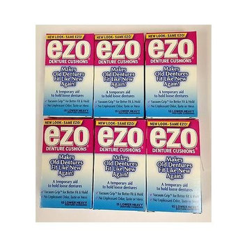 Ezo Denture Cushions Lower Heavy 15 Each X 6 Pack