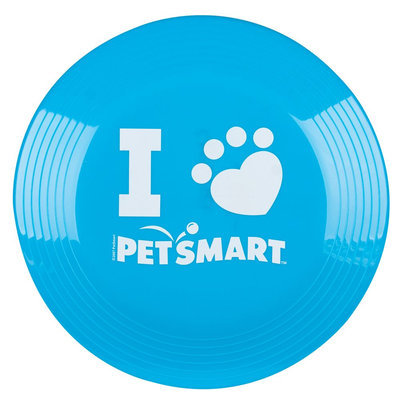 Grreat Choice® PetSmart Logo Flying Disc Dog Toy, Bright Blue