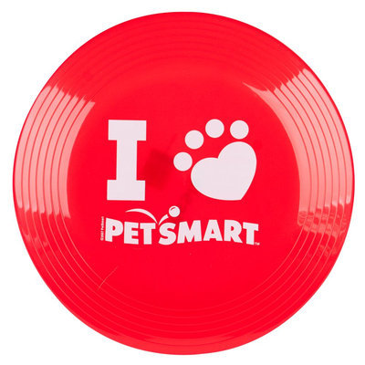 Grreat Choice® PetSmart Logo Flying Disc Dog Toy, Red