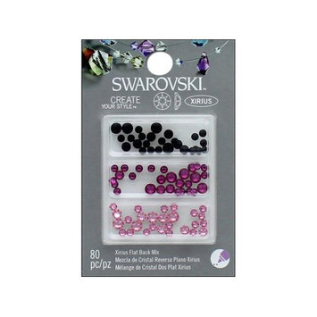 Cousin Corporation Of America Cousin Swarovski Flatback Mix Pinks Black 80pc