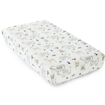 Levtex Baby Bailey Taupe and Grey Woodland Themed Plush Changing Pad Cover