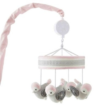 Levtex Baby Elise Pink Plush Bird Musical Mobile