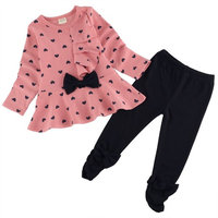 Zeagoo New Spring Cute 2pcs Set Children Clothes Girls Outfit Sets With Top And Pants