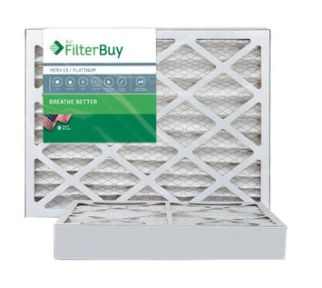 10x14x4 AFB Platinum MERV 13 Pleated AC Furnace Air Filter. Filters. 100% produced in the USA. (Pack of 2)