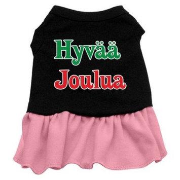 Mirage Pet Products 10-Inch Hyvaa Joulua Screen Print Dress