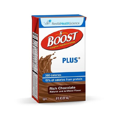 Boost Plus Rich Chocolate 8 oz. Carton Ready to Use 360 Cal 6 Cases of 27