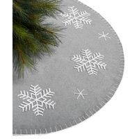 Gray Snowflake Tree Skirt, Created for Macy's