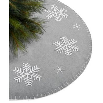 Gray Snowflake Tree Skirt, Created for Macy's