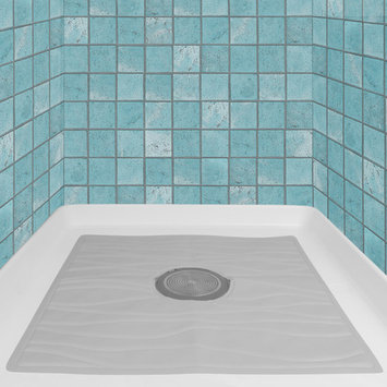 Evelots Non Slip Bath & Shower Mat With Powerful Suction Cups, 22