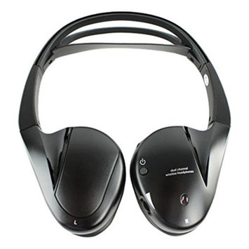Audiovox IR2CFF Dual Channel Infrared Headphone - Wireless Connectivity - Stereo - Over-the-head
