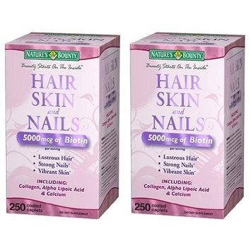 Nature's Bounty Optimal Solutions Hair Skin and Nails, 250 Softgels 2PK