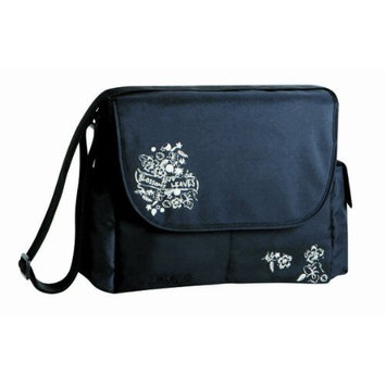 Lassig Marv Messenger Bag Blossoms and Leaves, Black