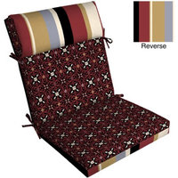 Arden Companies Pillow Top Pattern Chair Outdoor Cushion, Emerson Port