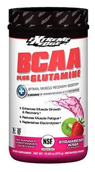 Extreme Edge BCCA=Glutamine Strawberry Kwi Flavor Bluebonnet 375 gram Powder