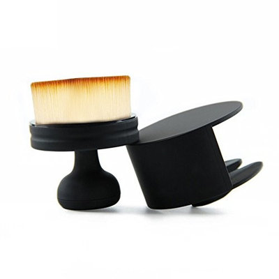 SODIAL Round Seal Makeup Brush Short Handle Flat Face Foundation Concealer Powder brush Air Brush Loose powder Makeup Brush Makeup Tools