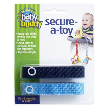 Baby Buddy Secure-A-Toy 2ct Navy-Blue - Case of 24