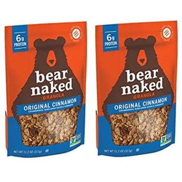 Bear Naked Original Cinnamon Protein Granola, 11.2 Ounce (Packaging May Vary) (2 Pack)
