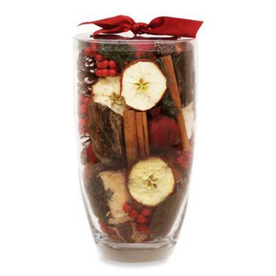 Nature's Inspirations Glass Vase Potpourri in Cinnamon Apple