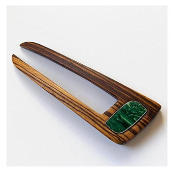 14cm Turquoise Hair Pin Retro Style Wood Ebony Hair Pins, Hairpin Accessory, Hair Clip Hairpin