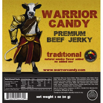 Warrior Candy Premium Beef Jerky Traditional
